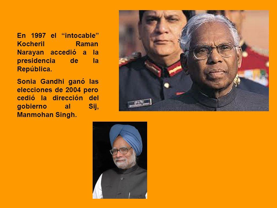 En 1997 el intocable Kocheril Raman Narayan accedió a la presidencia de la República.