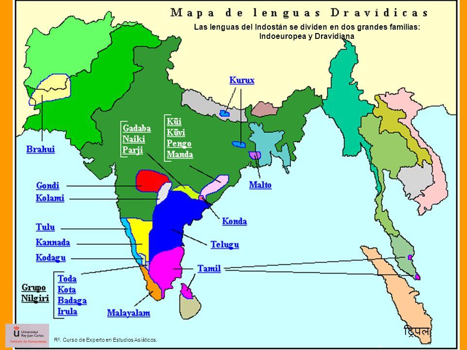 Las lenguas del Indostán se dividen en dos grandes familias: Indoeuropea y Dravidiana