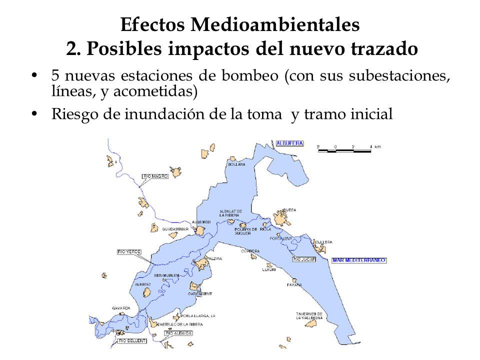 Efectos Medioambientales 2. Posibles impactos del nuevo trazado
