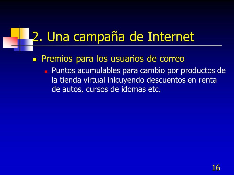 2. Una campaña de Internet