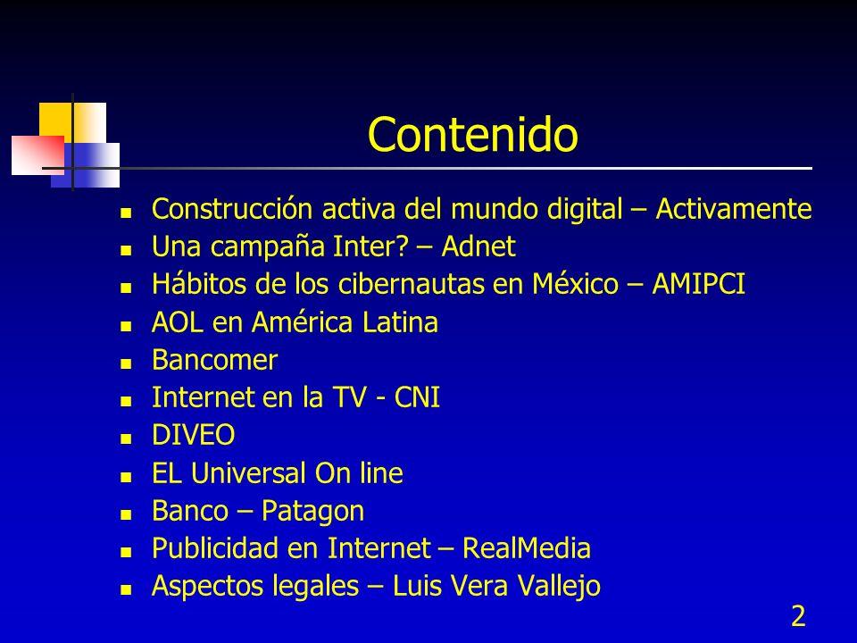 Contenido Construcción activa del mundo digital – Activamente
