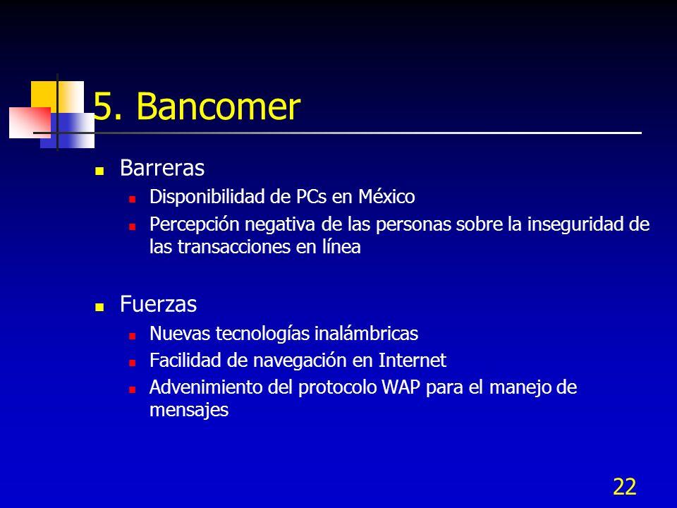 5. Bancomer Barreras Fuerzas Disponibilidad de PCs en México