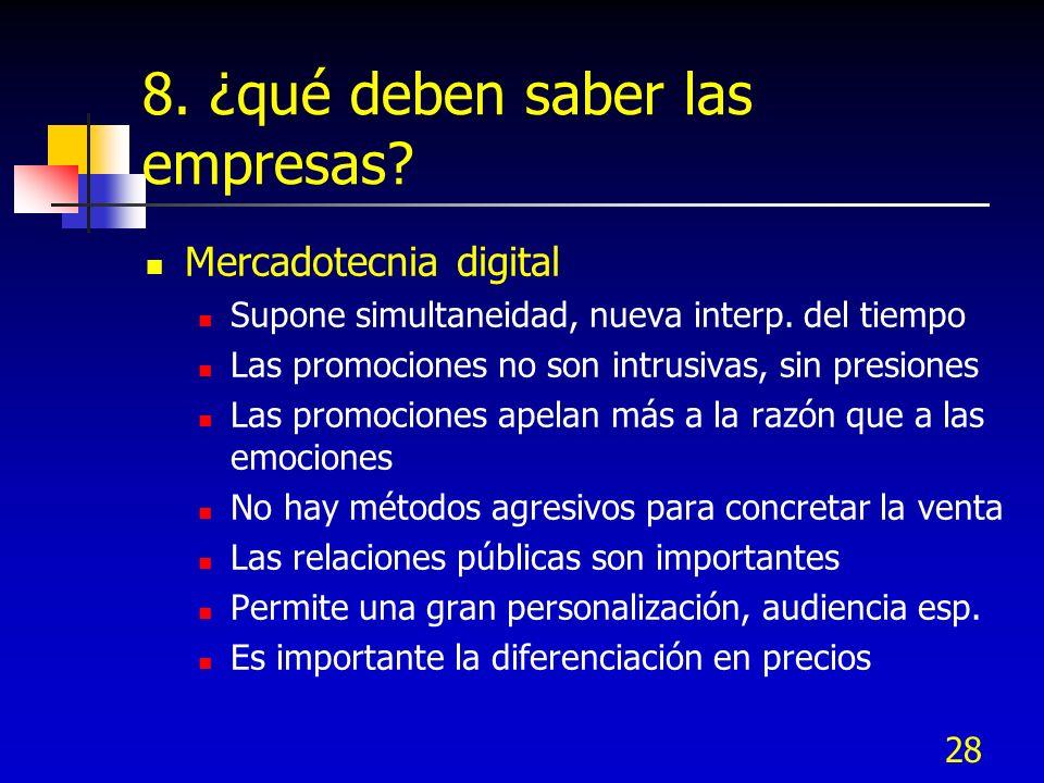 8. ¿qué deben saber las empresas