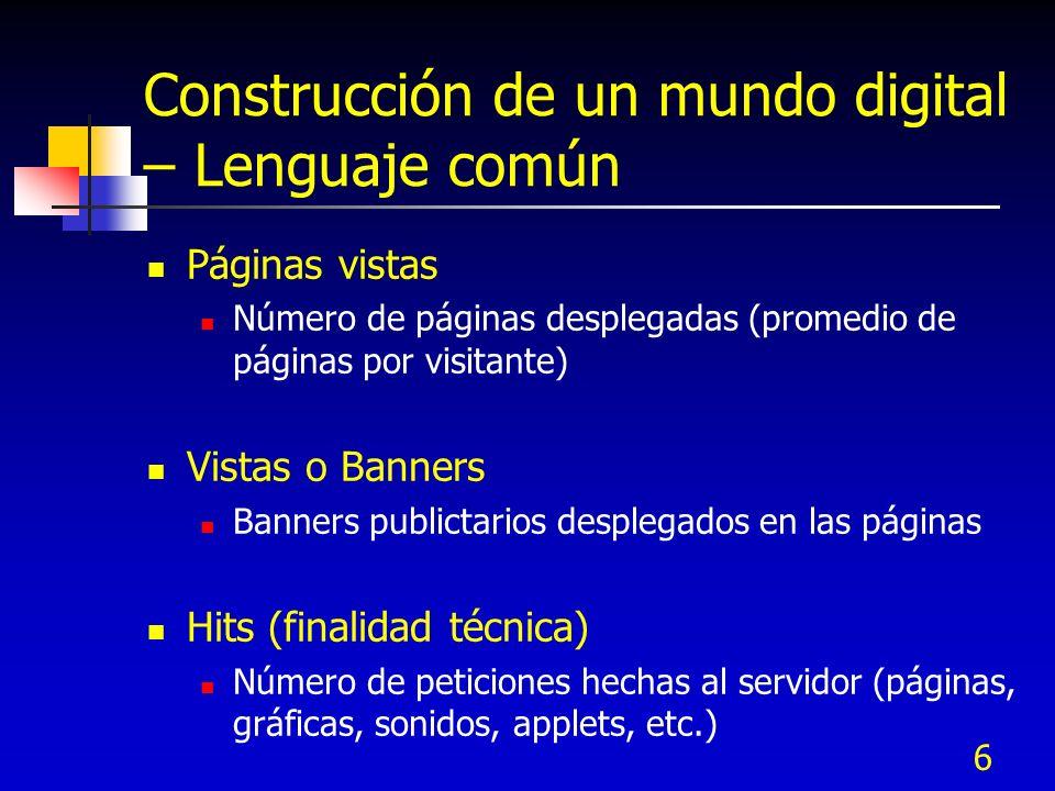 Construcción de un mundo digital – Lenguaje común