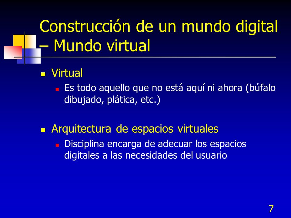 Construcción de un mundo digital – Mundo virtual