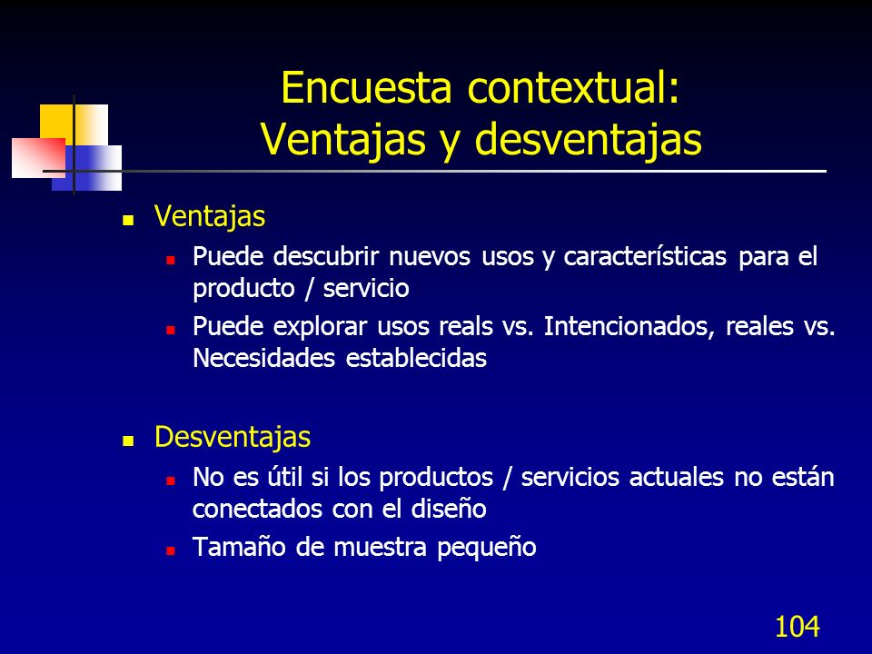 Encuesta contextual: Ventajas y desventajas