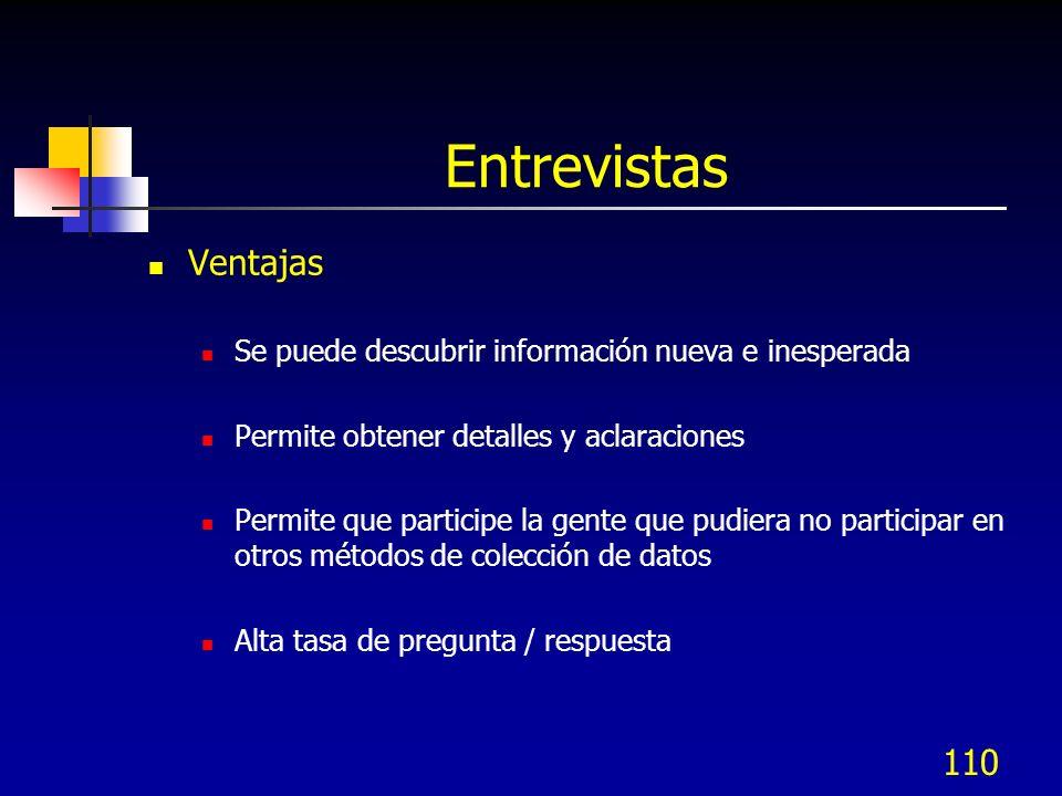 Entrevistas Ventajas Se puede descubrir información nueva e inesperada