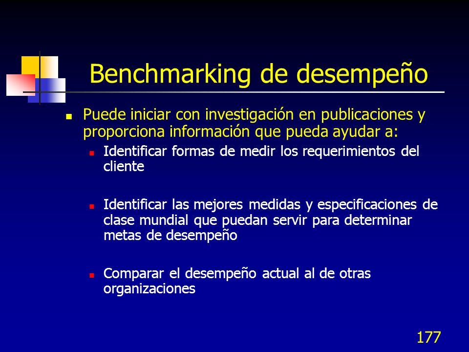 Benchmarking de desempeño