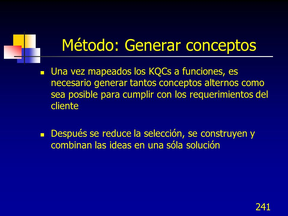 Método: Generar conceptos
