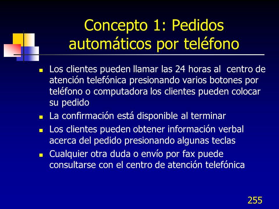 Concepto 1: Pedidos automáticos por teléfono