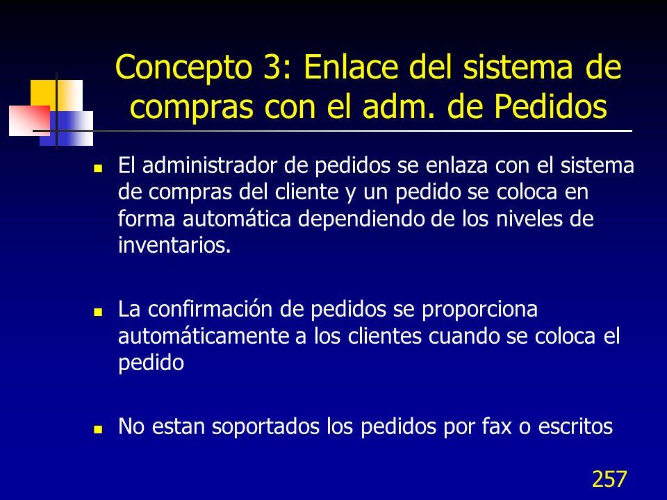 Concepto 3: Enlace del sistema de compras con el adm. de Pedidos