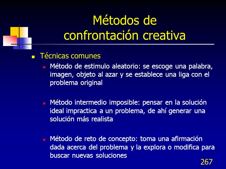 Métodos de confrontación creativa