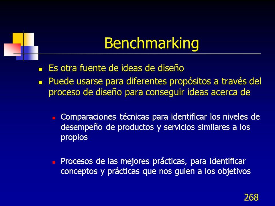 Benchmarking Es otra fuente de ideas de diseño