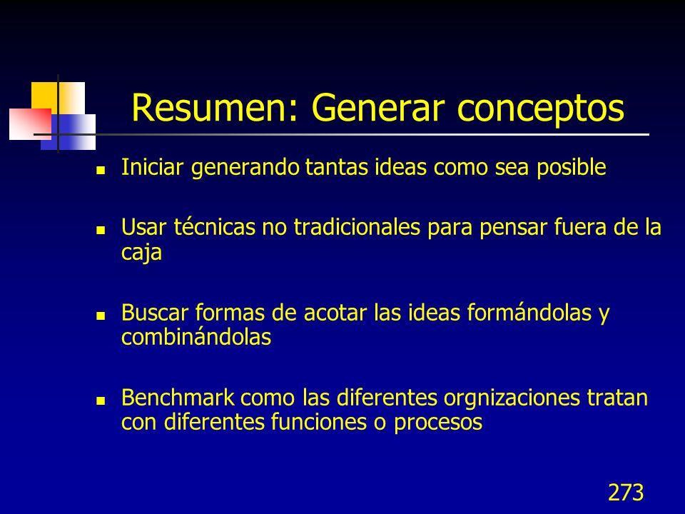 Resumen: Generar conceptos