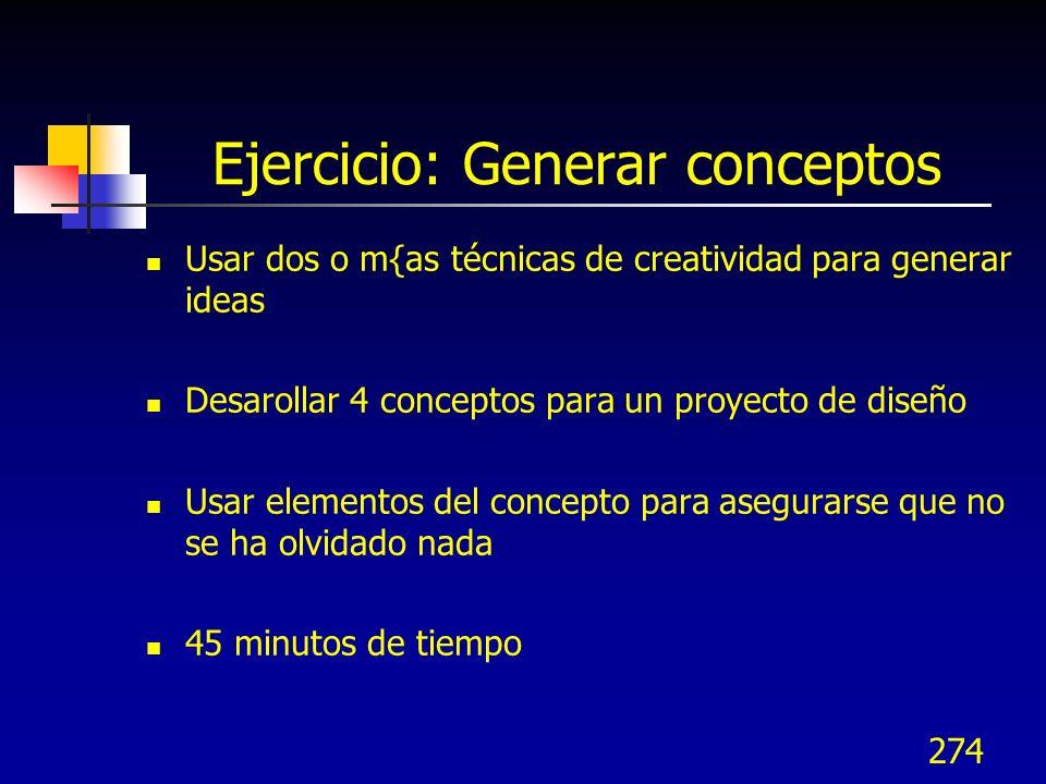 Ejercicio: Generar conceptos