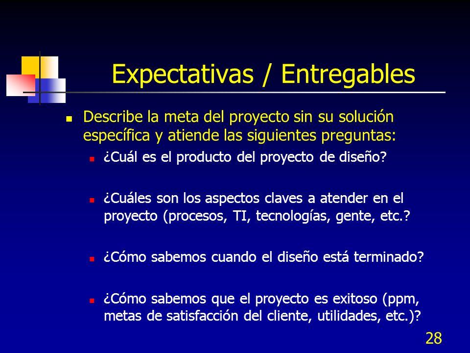Expectativas / Entregables