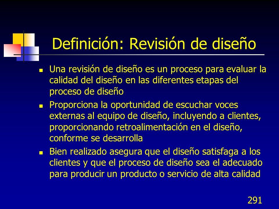 Definición: Revisión de diseño
