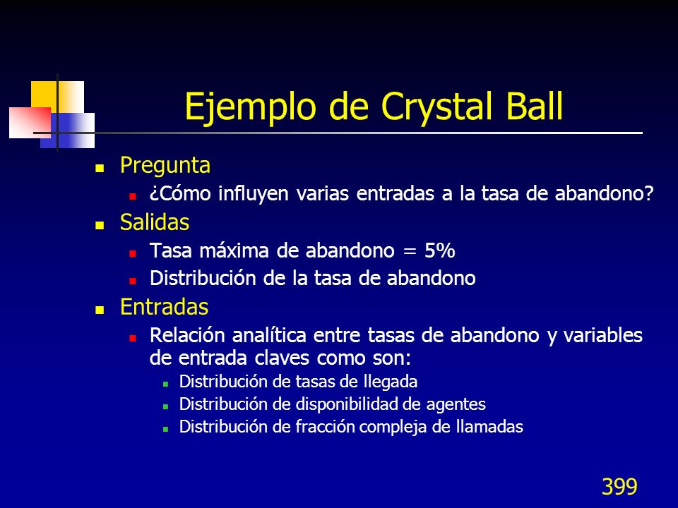 Ejemplo de Crystal Ball