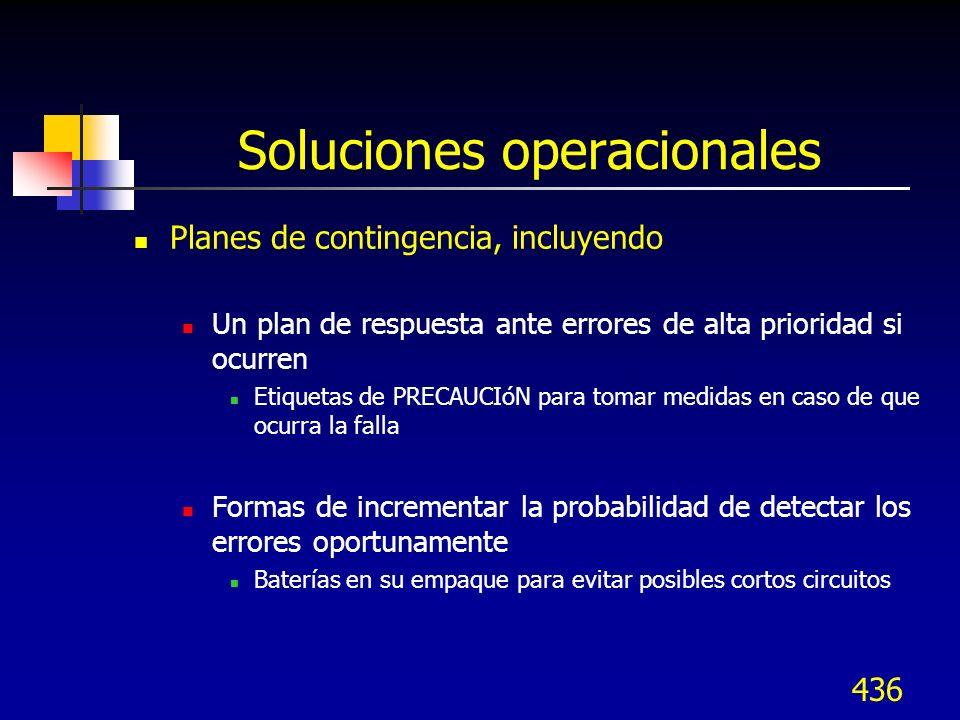 Soluciones operacionales