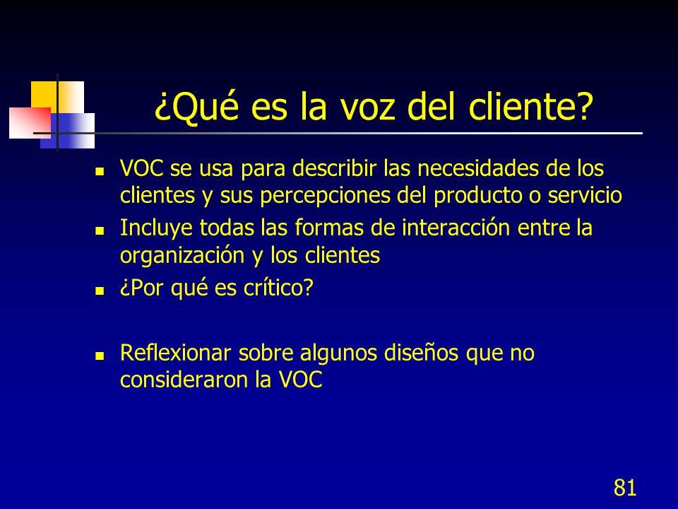 ¿Qué es la voz del cliente