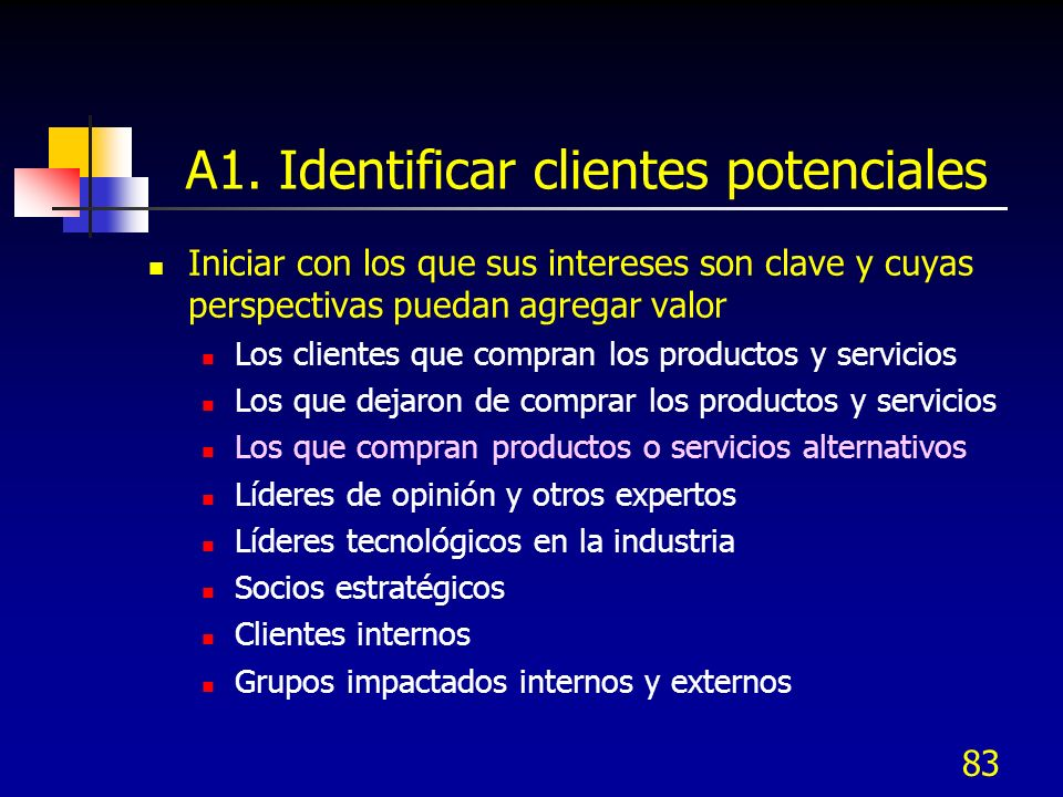 A1. Identificar clientes potenciales