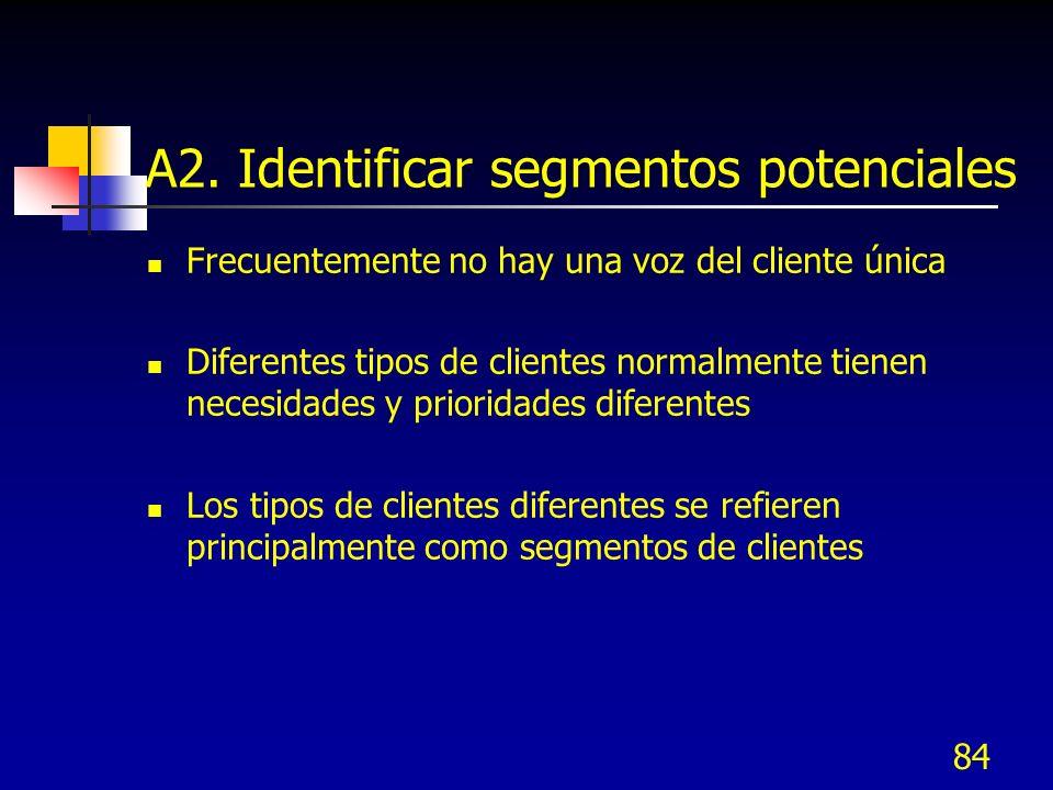 A2. Identificar segmentos potenciales