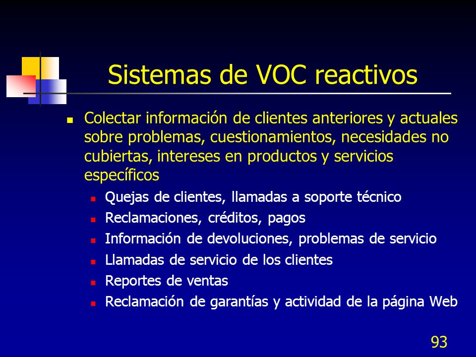 Sistemas de VOC reactivos