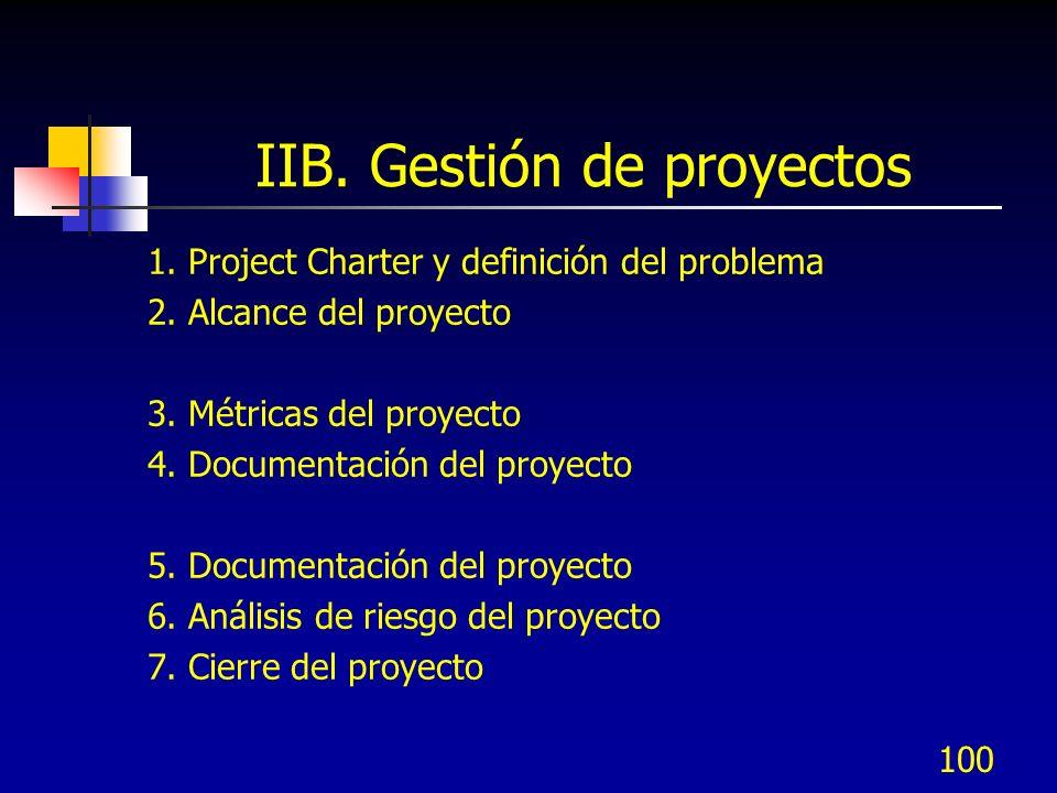 IIB. Gestión de proyectos
