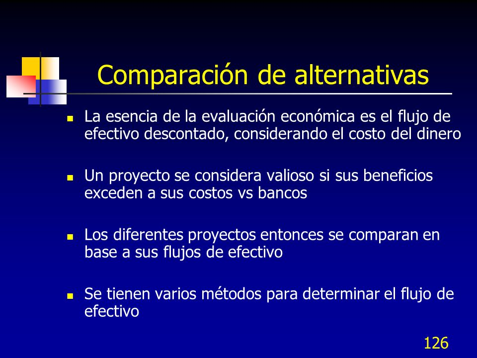 Comparación de alternativas
