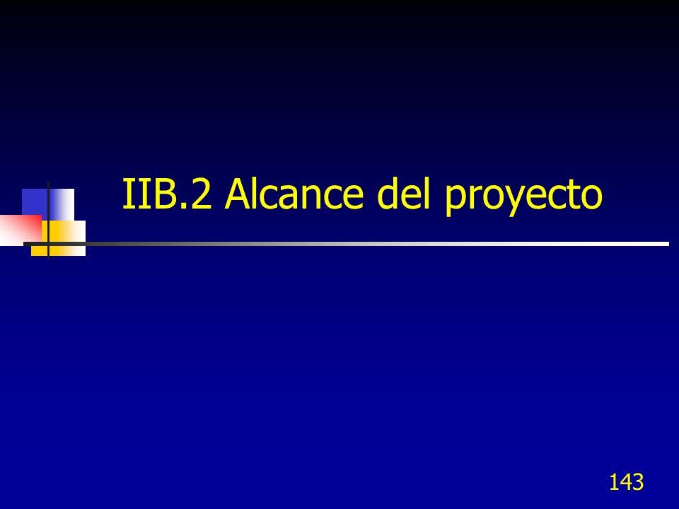 IIB.2 Alcance del proyecto