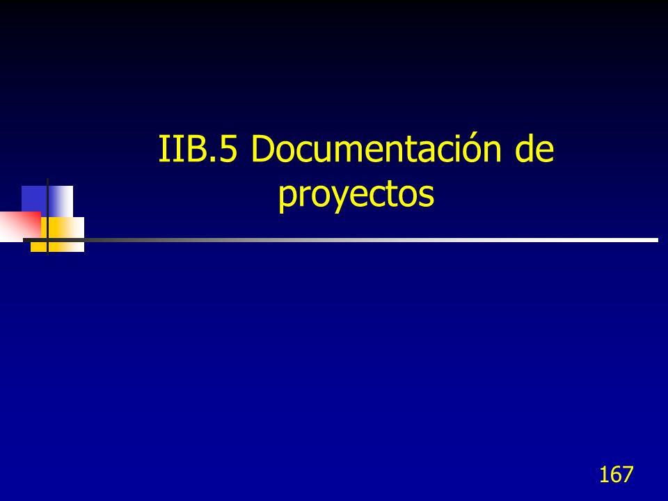 IIB.5 Documentación de proyectos
