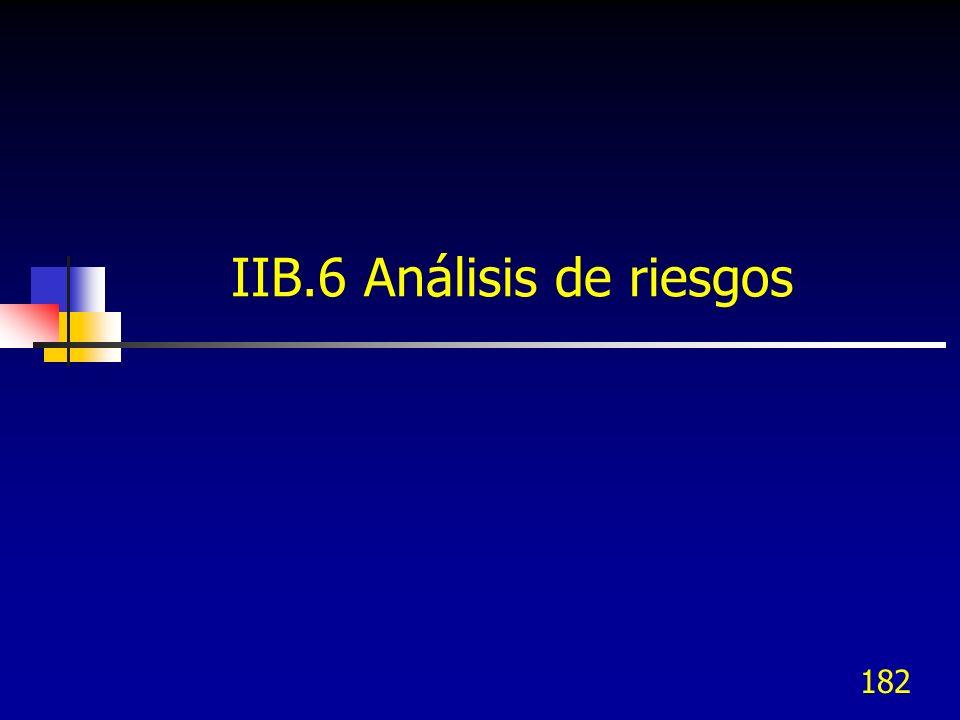 IIB.6 Análisis de riesgos