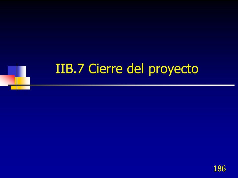 IIB.7 Cierre del proyecto
