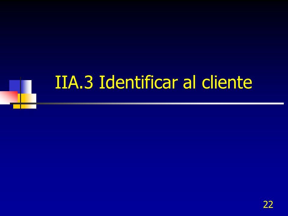 IIA.3 Identificar al cliente