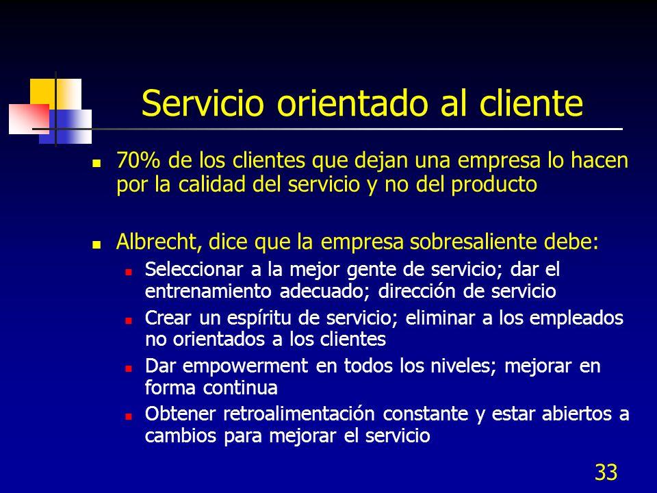 Servicio orientado al cliente