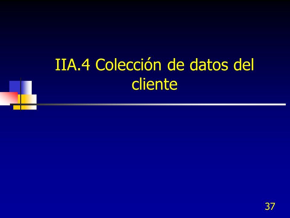 IIA.4 Colección de datos del cliente