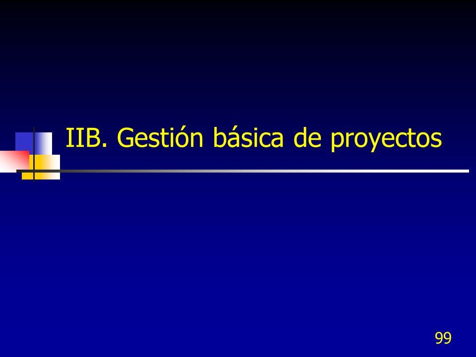 IIB. Gestión básica de proyectos