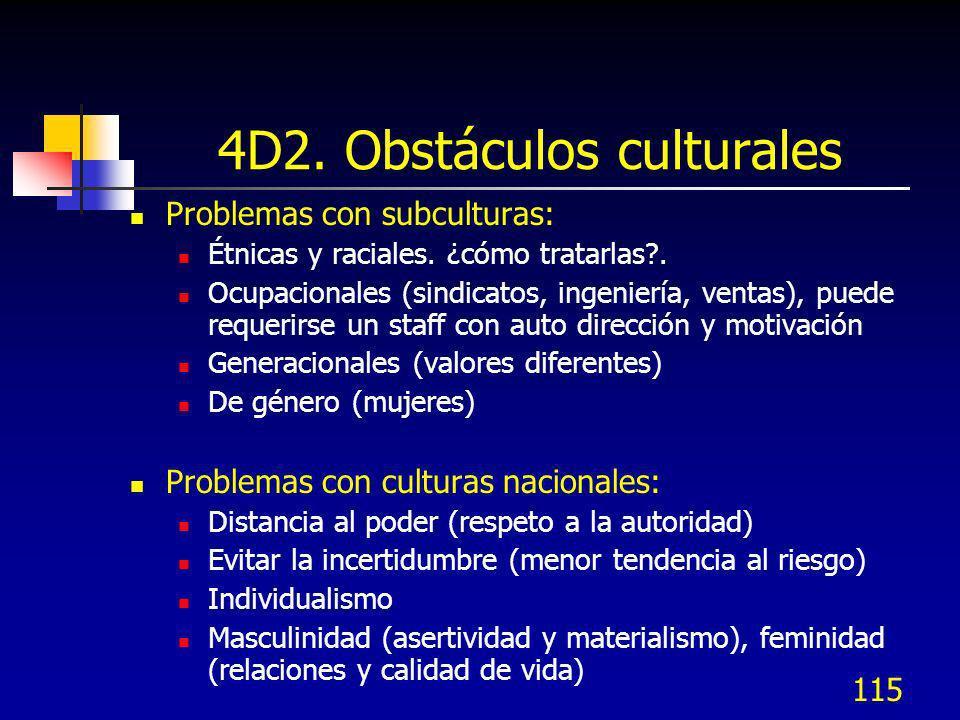 4D2. Obstáculos culturales