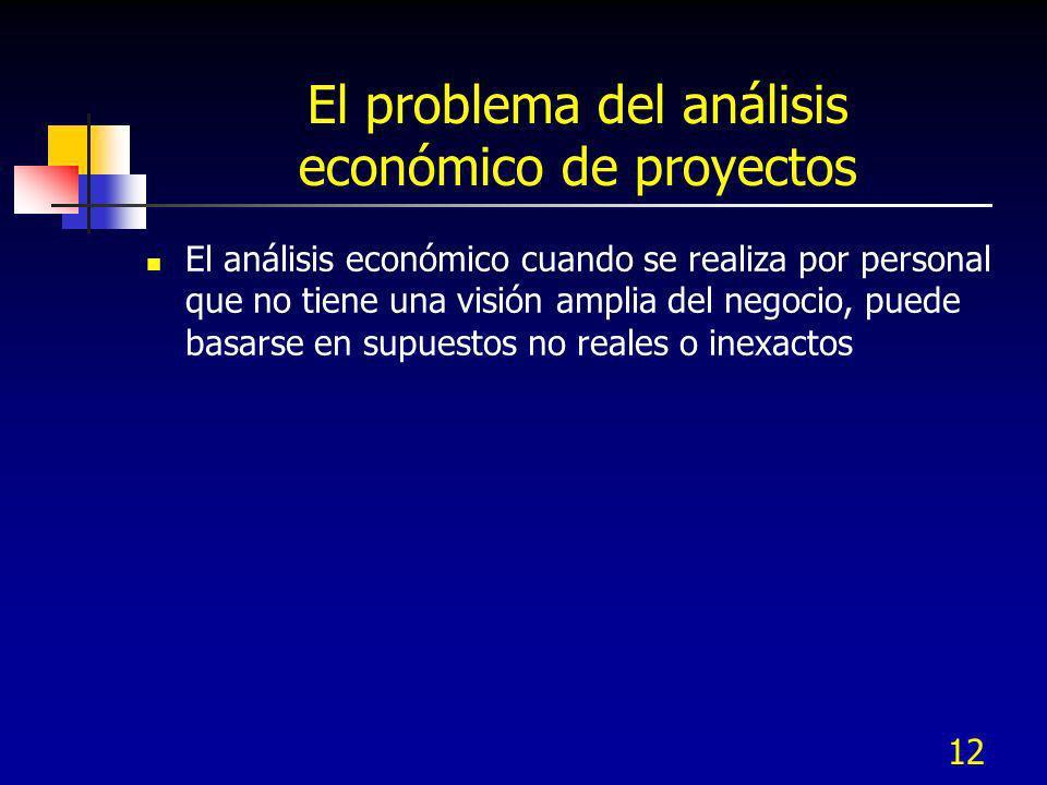 El problema del análisis económico de proyectos