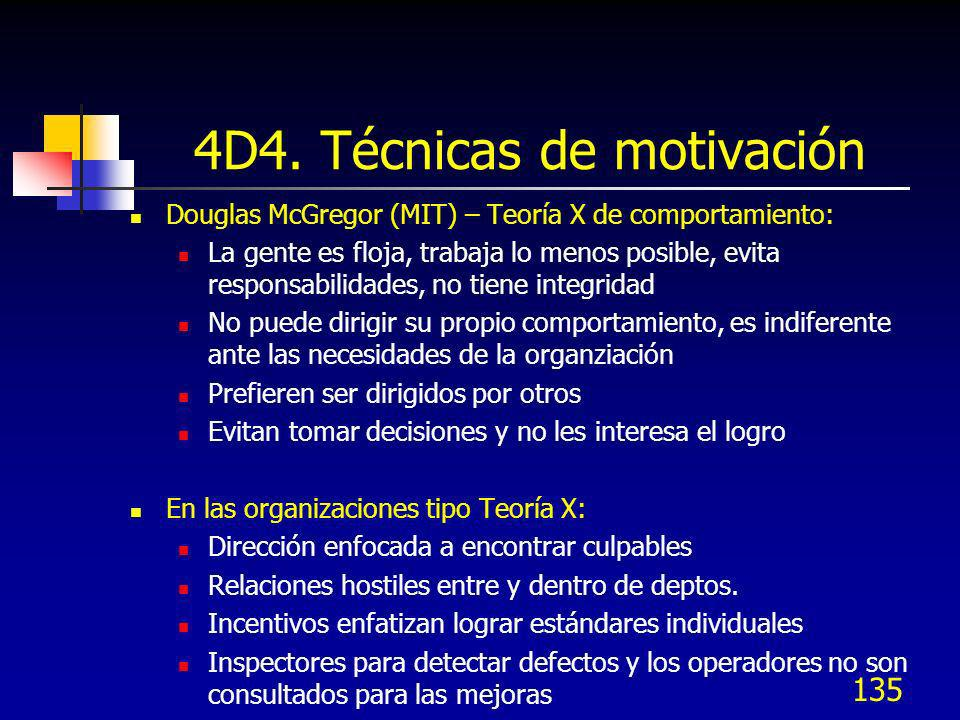 4D4. Técnicas de motivación