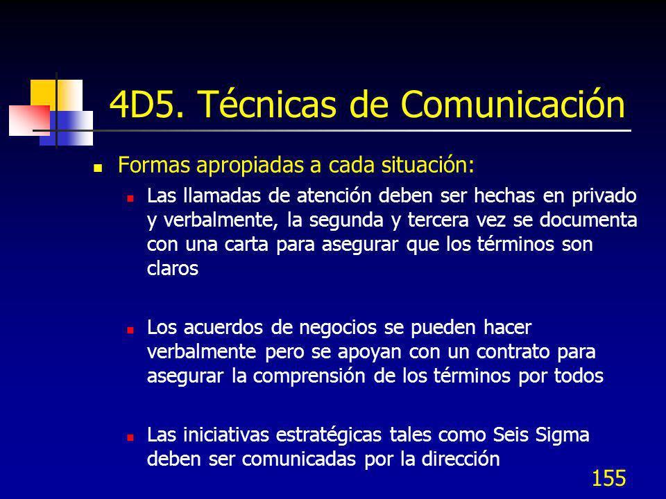 4D5. Técnicas de Comunicación