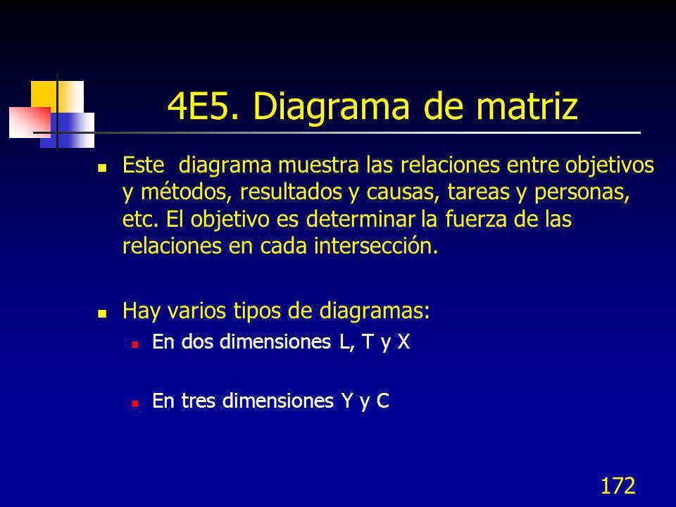 4E5. Diagrama de matriz