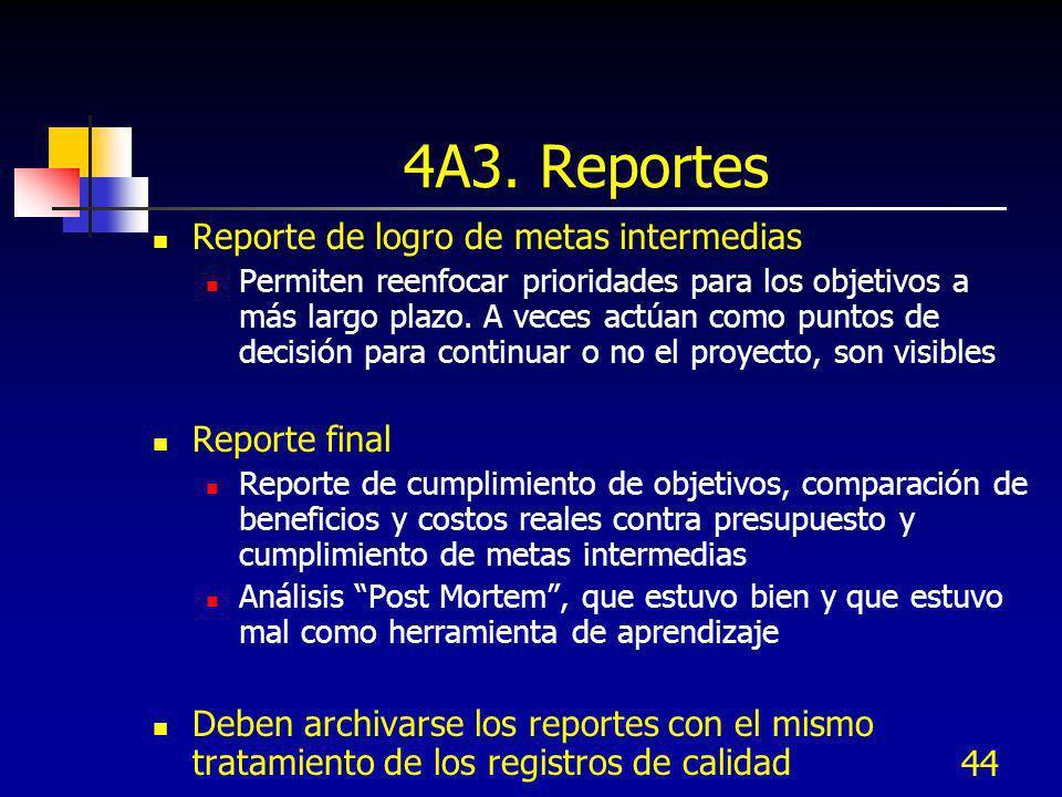 4A3. Reportes Reporte de logro de metas intermedias Reporte final