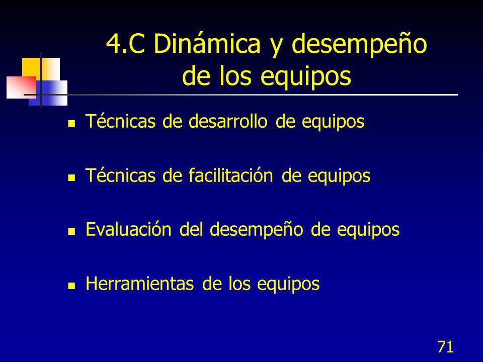 4.C Dinámica y desempeño de los equipos