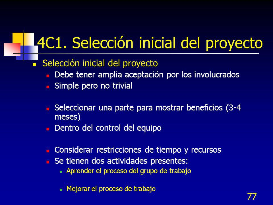 4C1. Selección inicial del proyecto