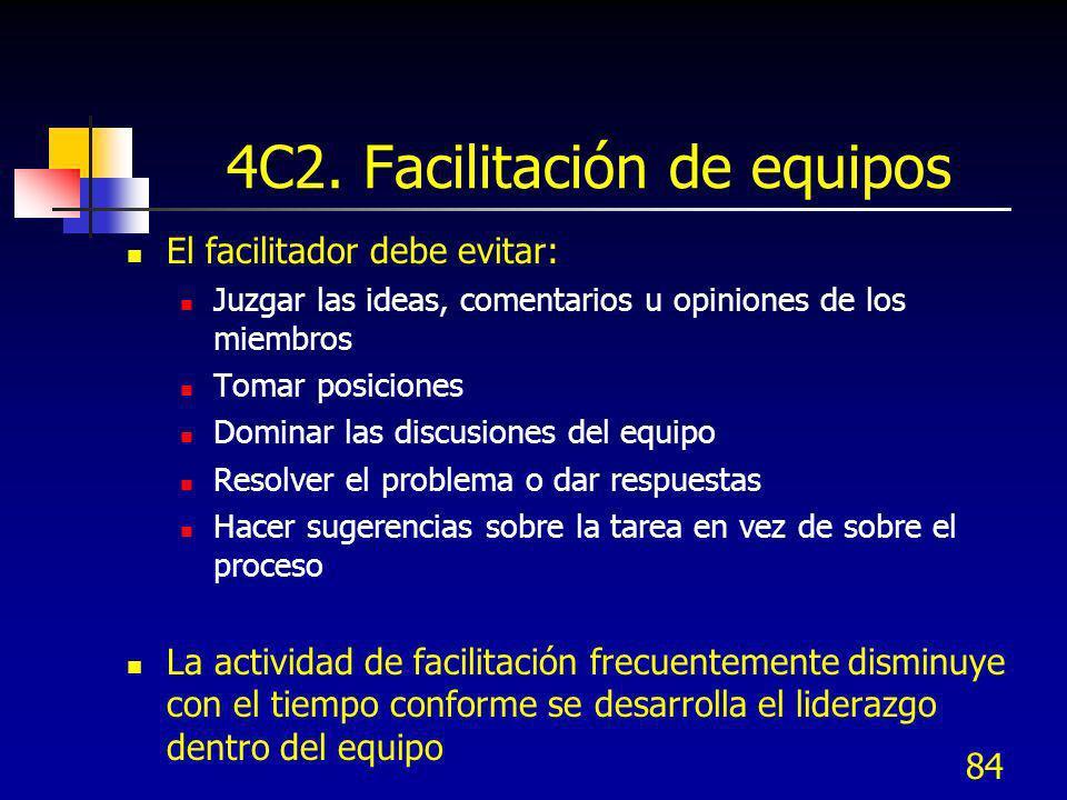 4C2. Facilitación de equipos