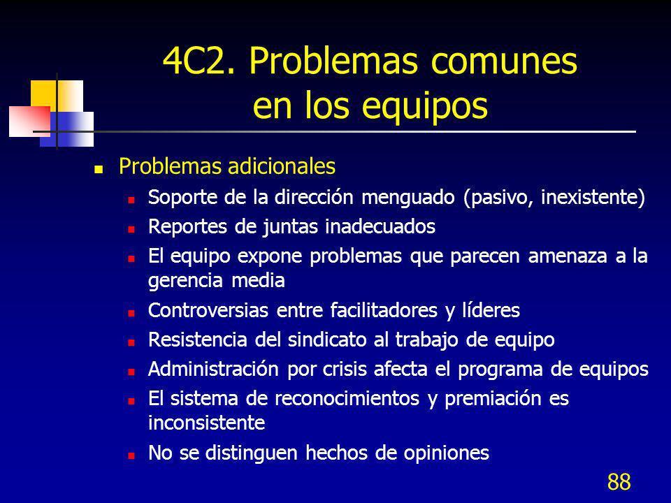4C2. Problemas comunes en los equipos