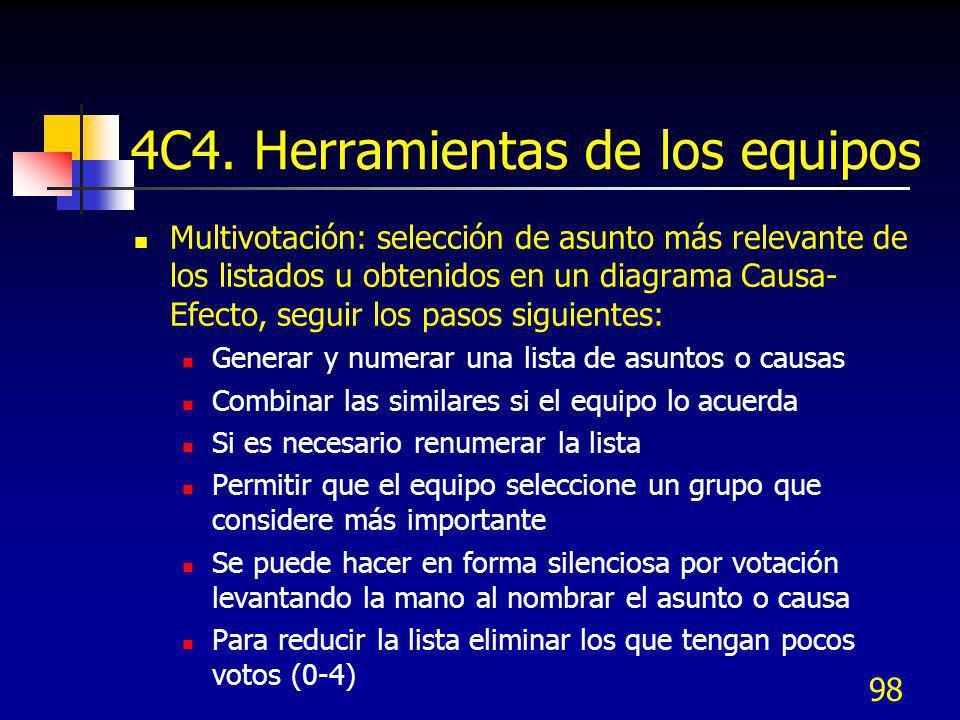 4C4. Herramientas de los equipos