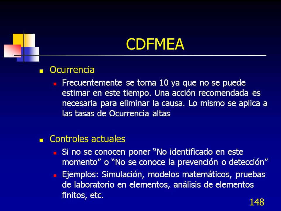 CDFMEA Ocurrencia Controles actuales