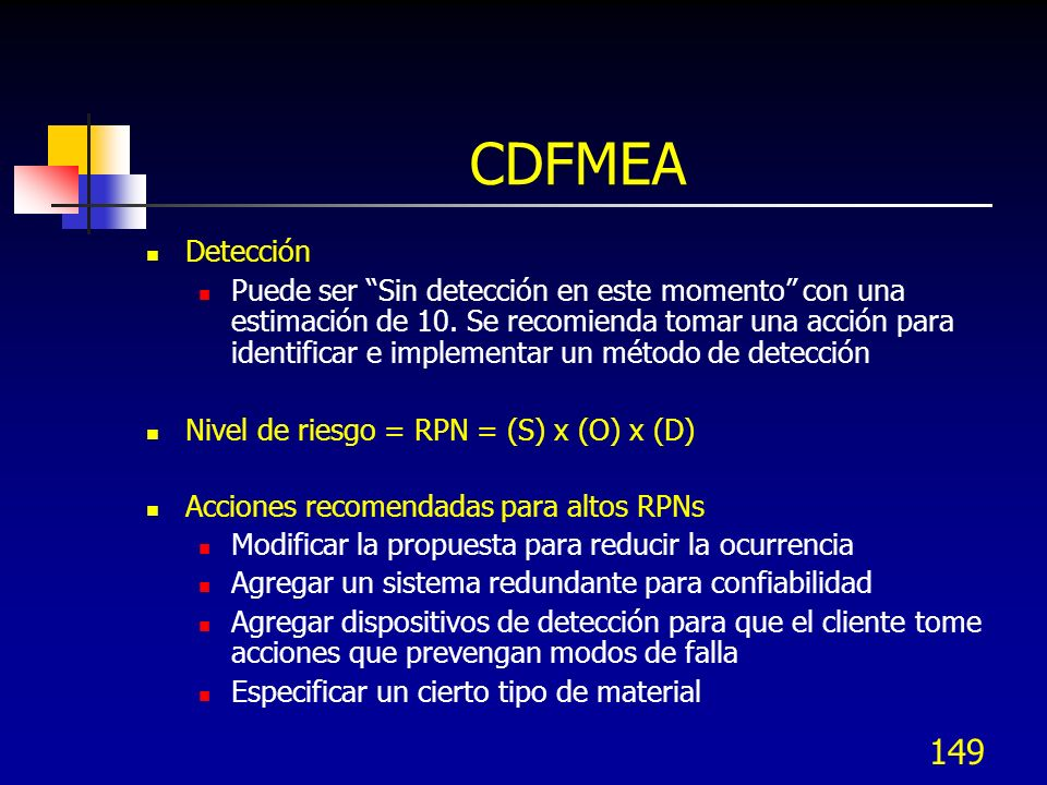 CDFMEA Detección.
